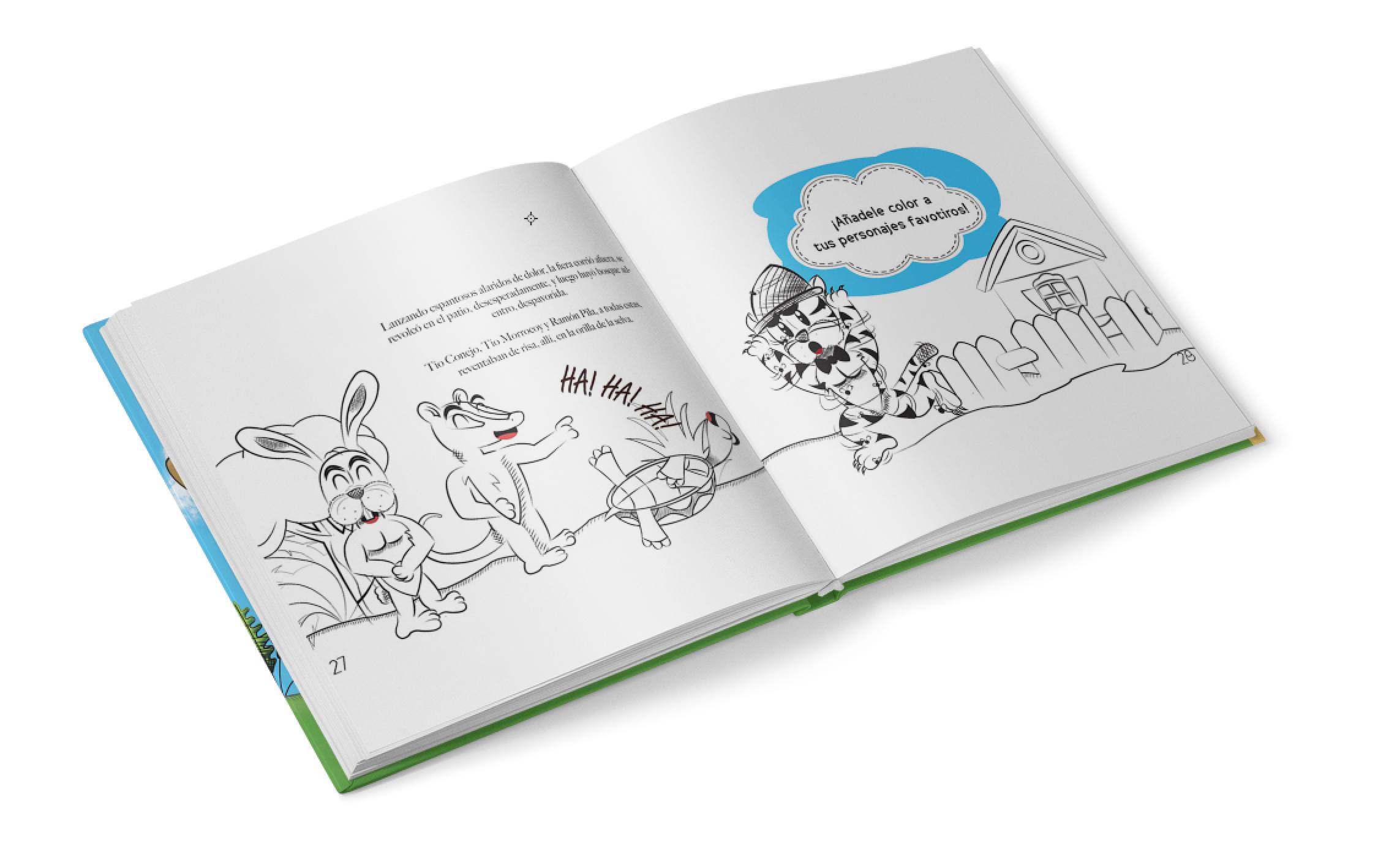 Tio Tigre y Tio Conejo Book design