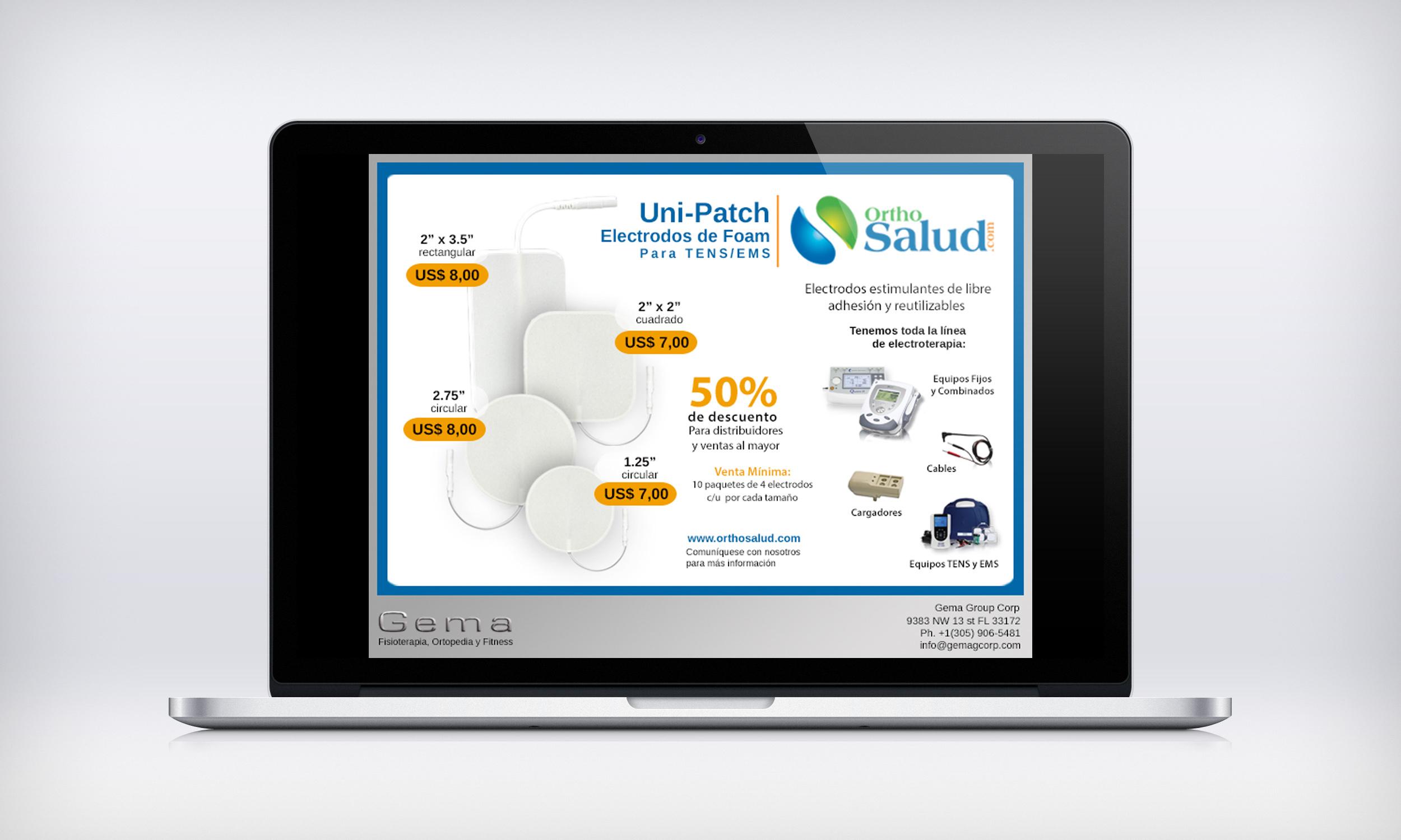 Ortho salud ad flyer design