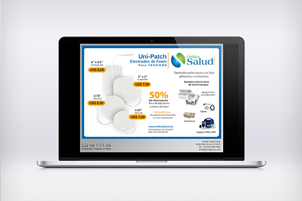 Ortho salud ad flyer design