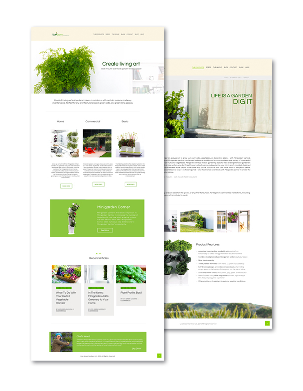 Live green website