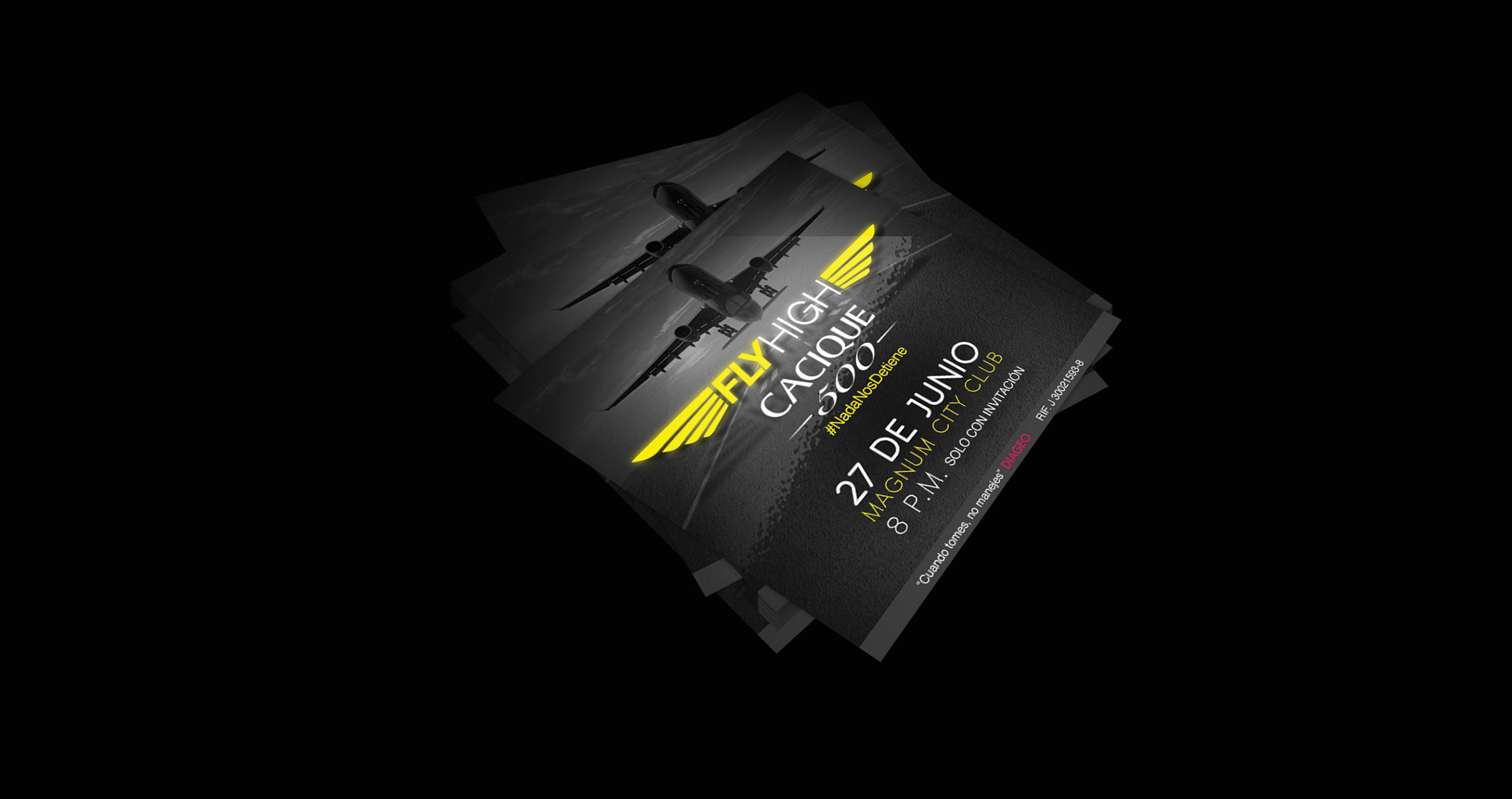 Fly high event design and branding