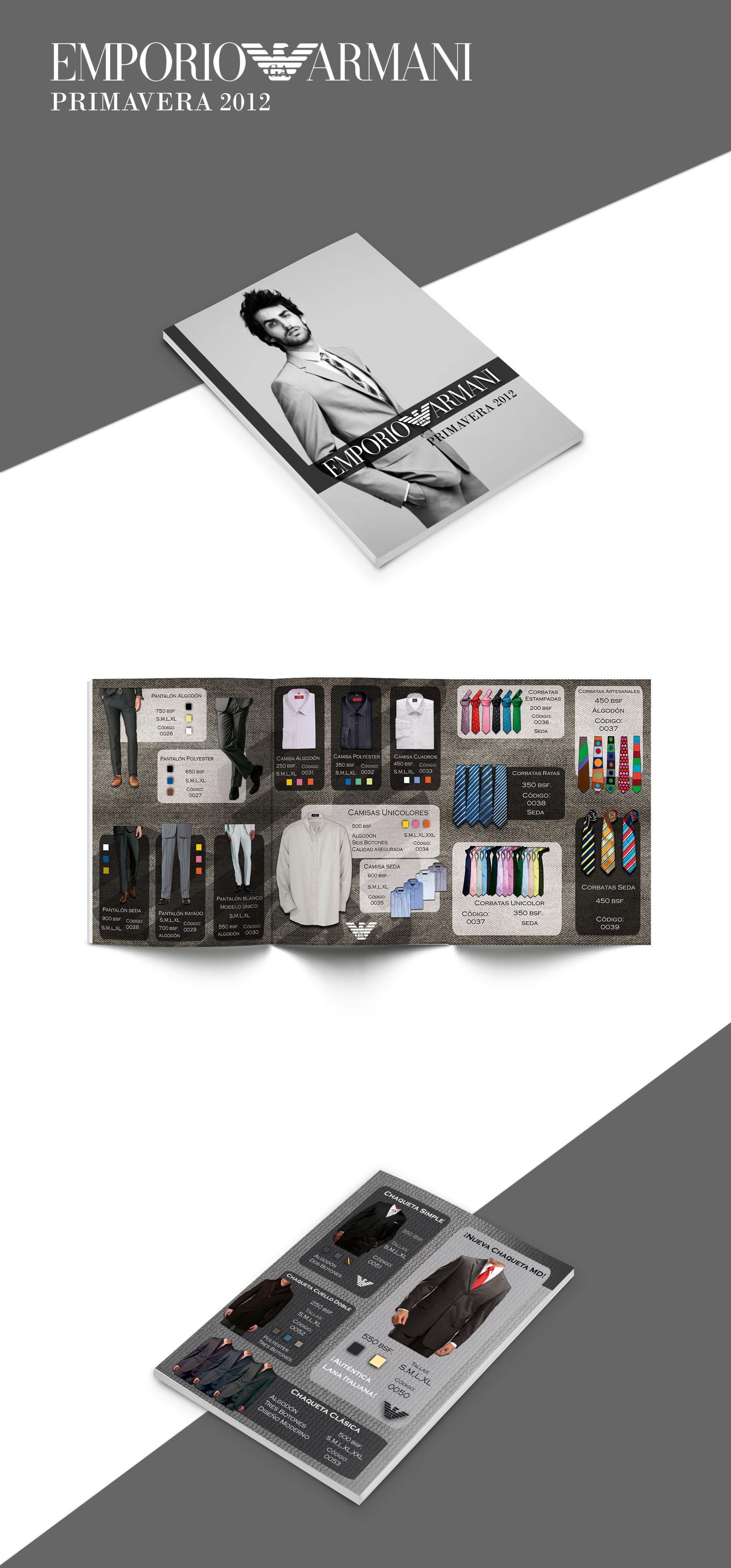Armani catalog design