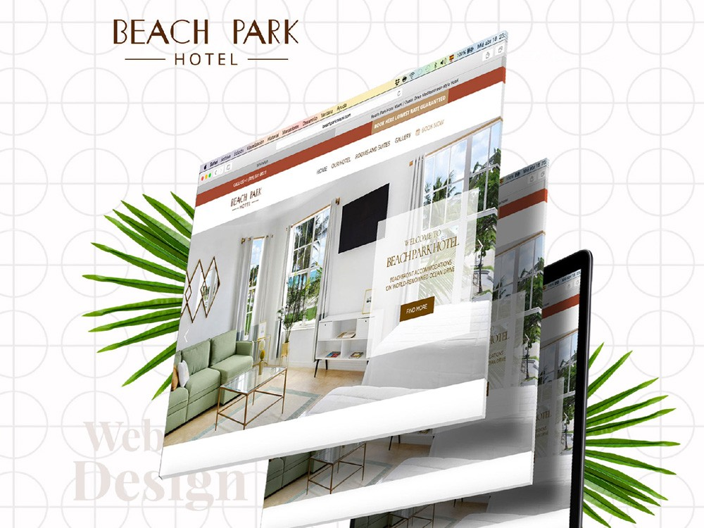Beach Park Hotel website redesign