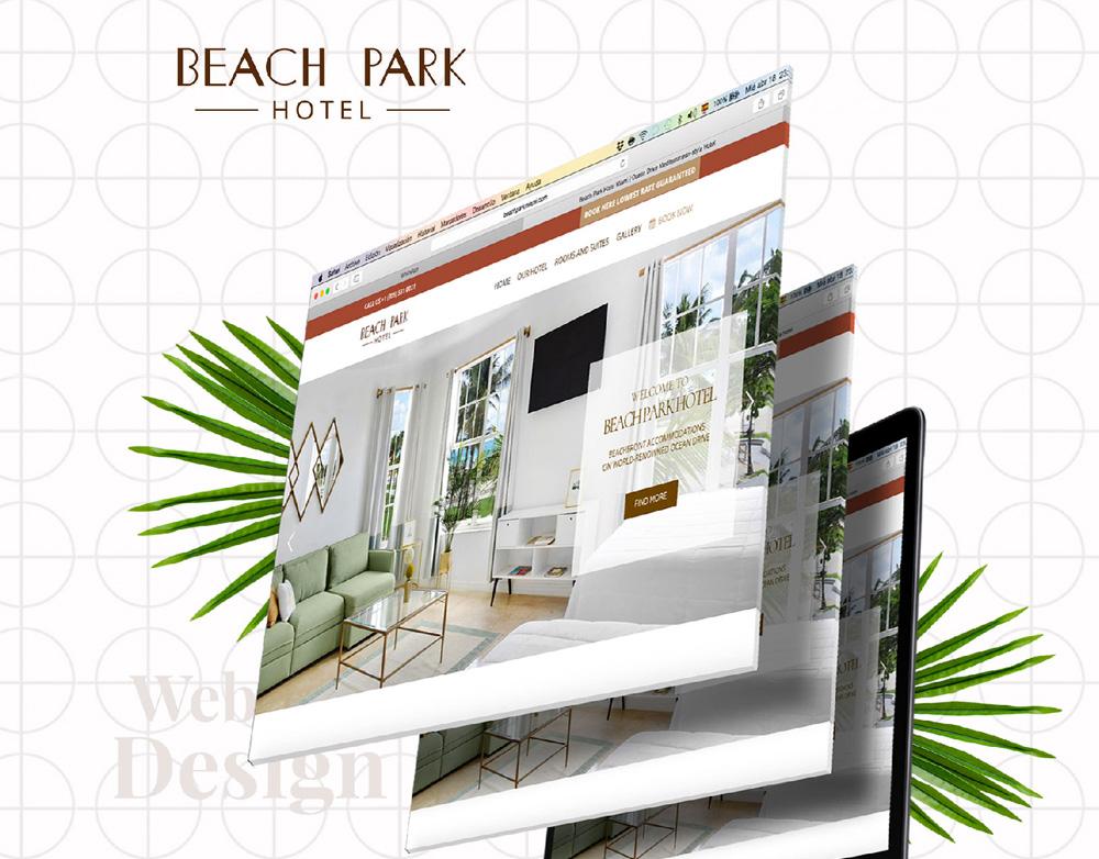 Beach Park Hotel website redesign