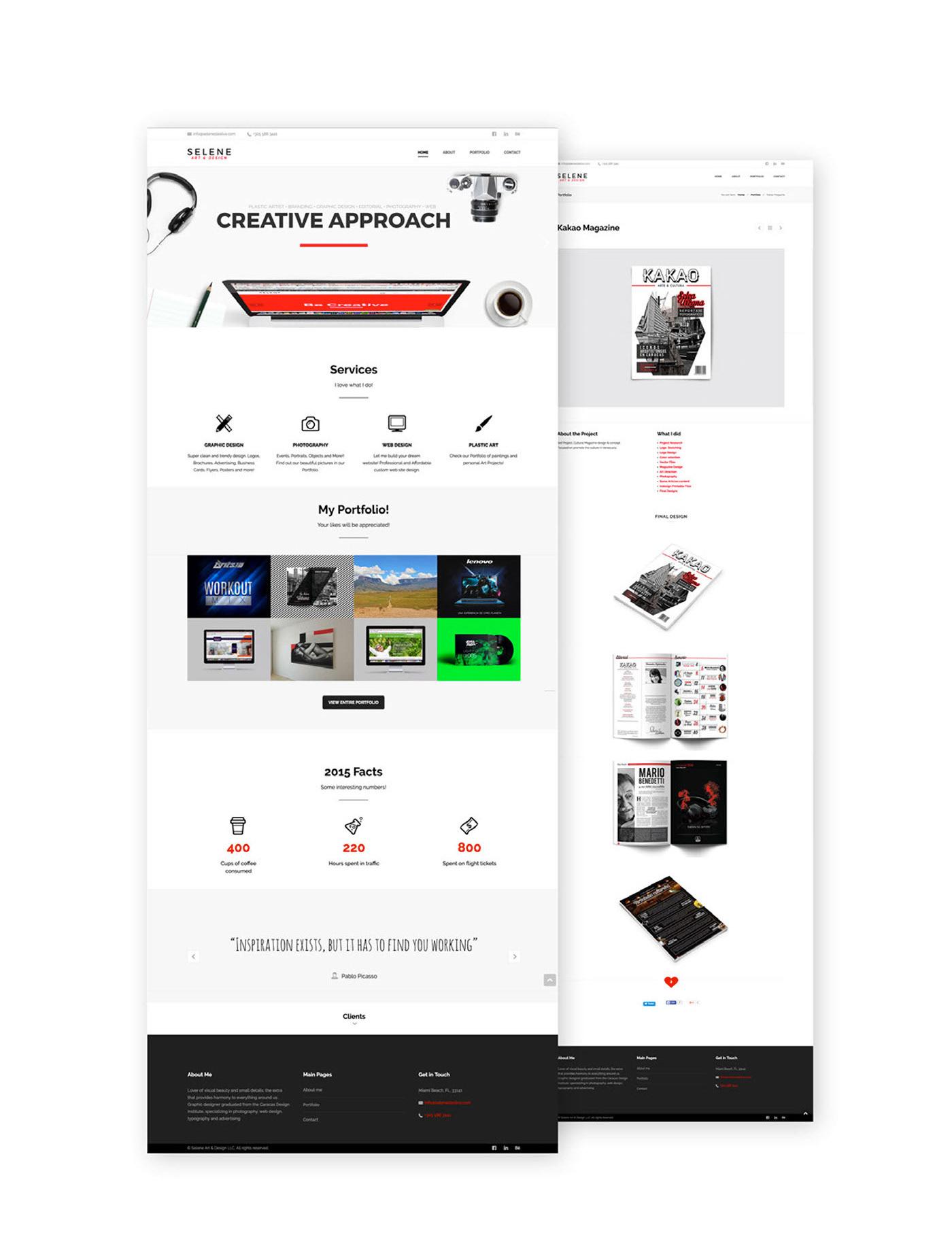 Selene Art Design website
