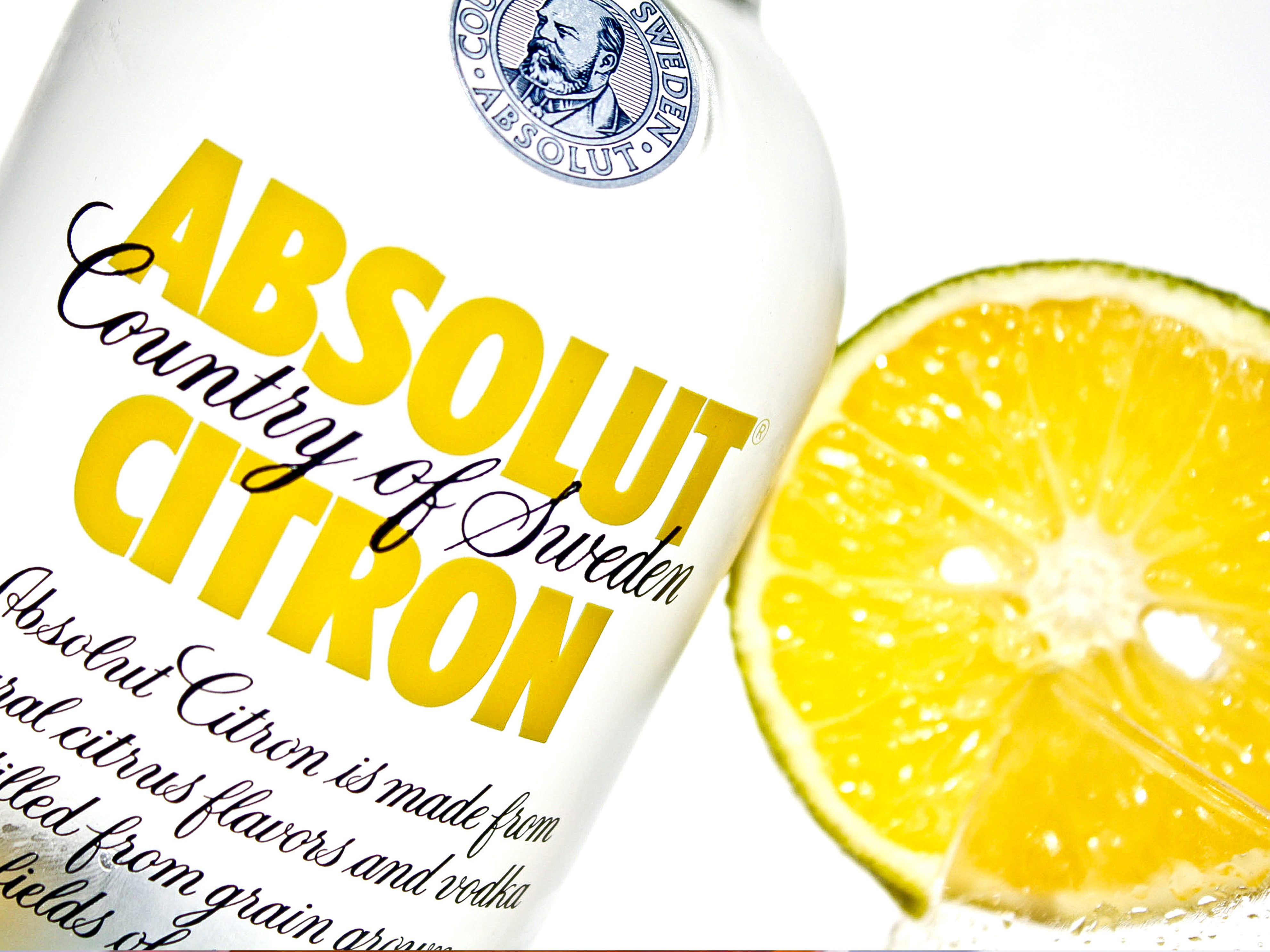Absolut Vodka product photography