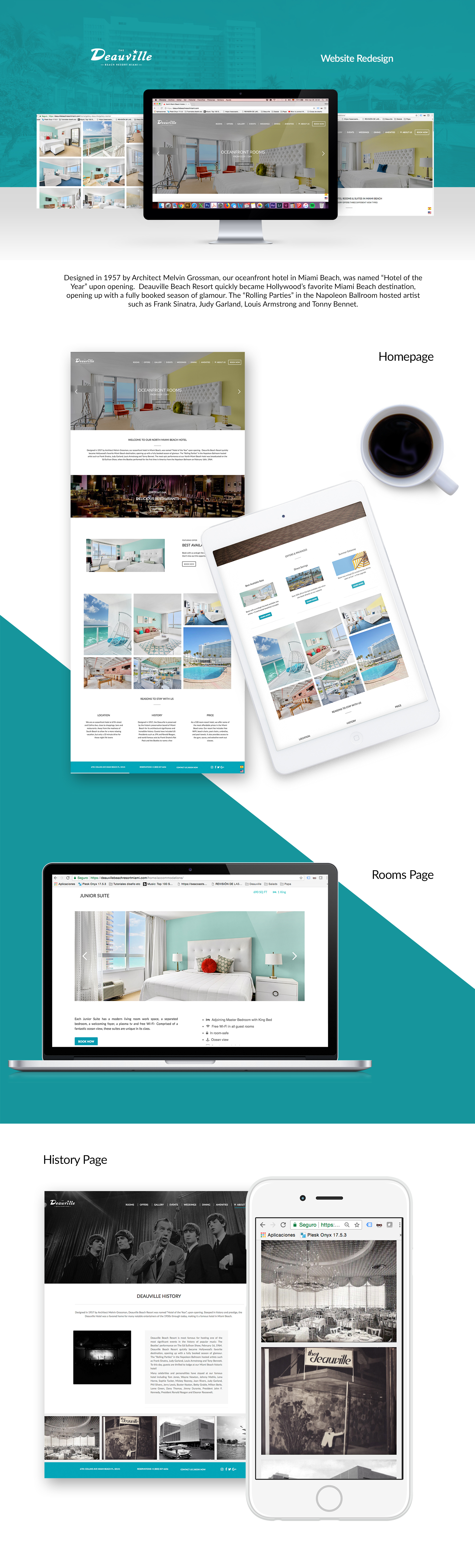 Seacoast Suites website redesign