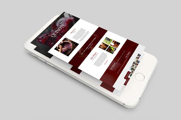 Quixote Vinum Website design