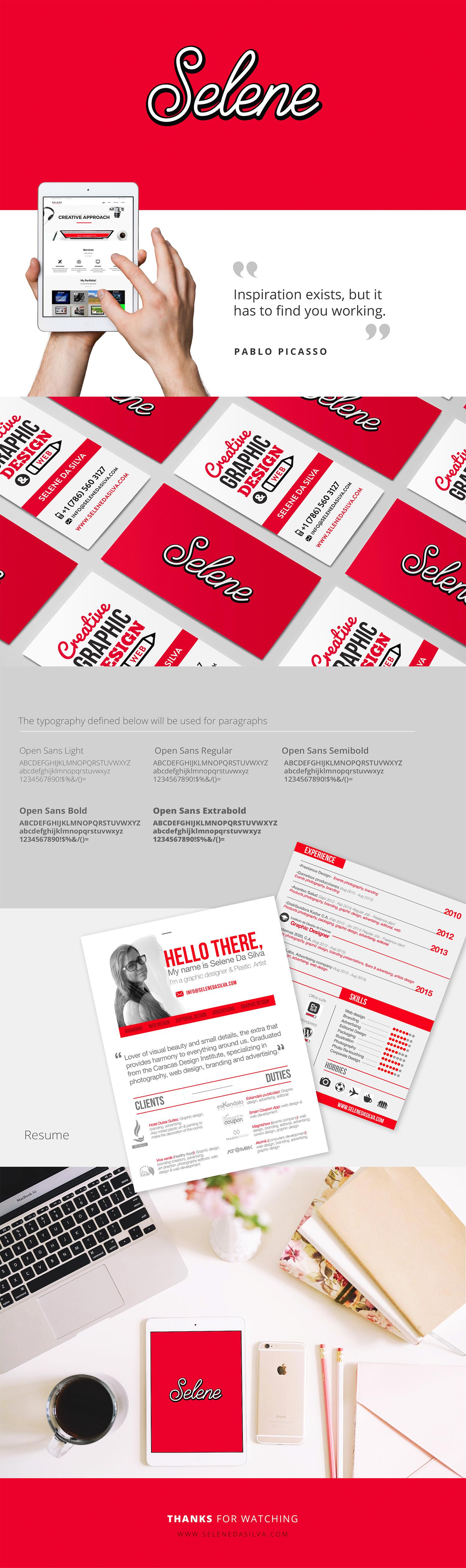 Selene Art Design Branding