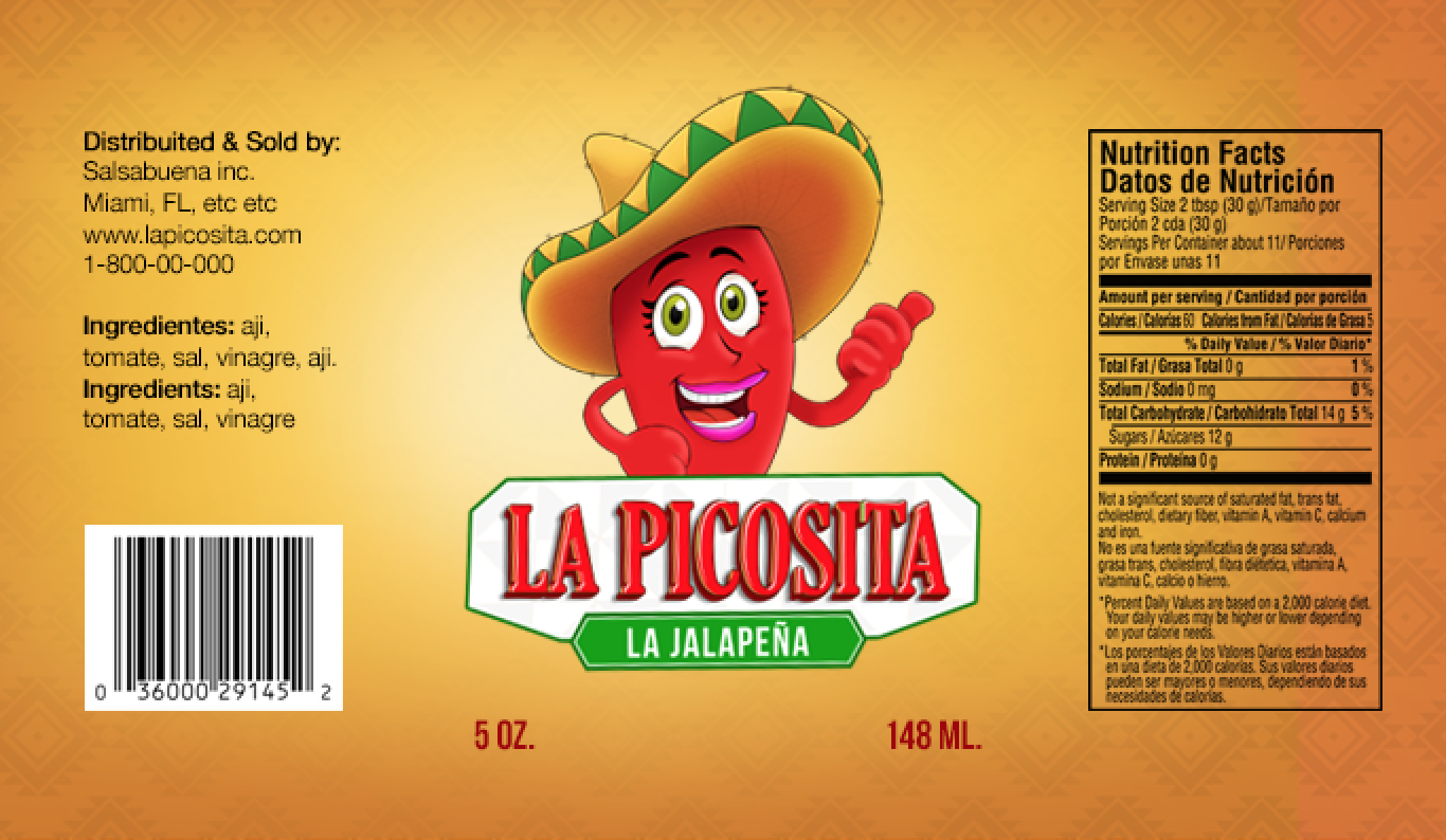 La Picosita Label design