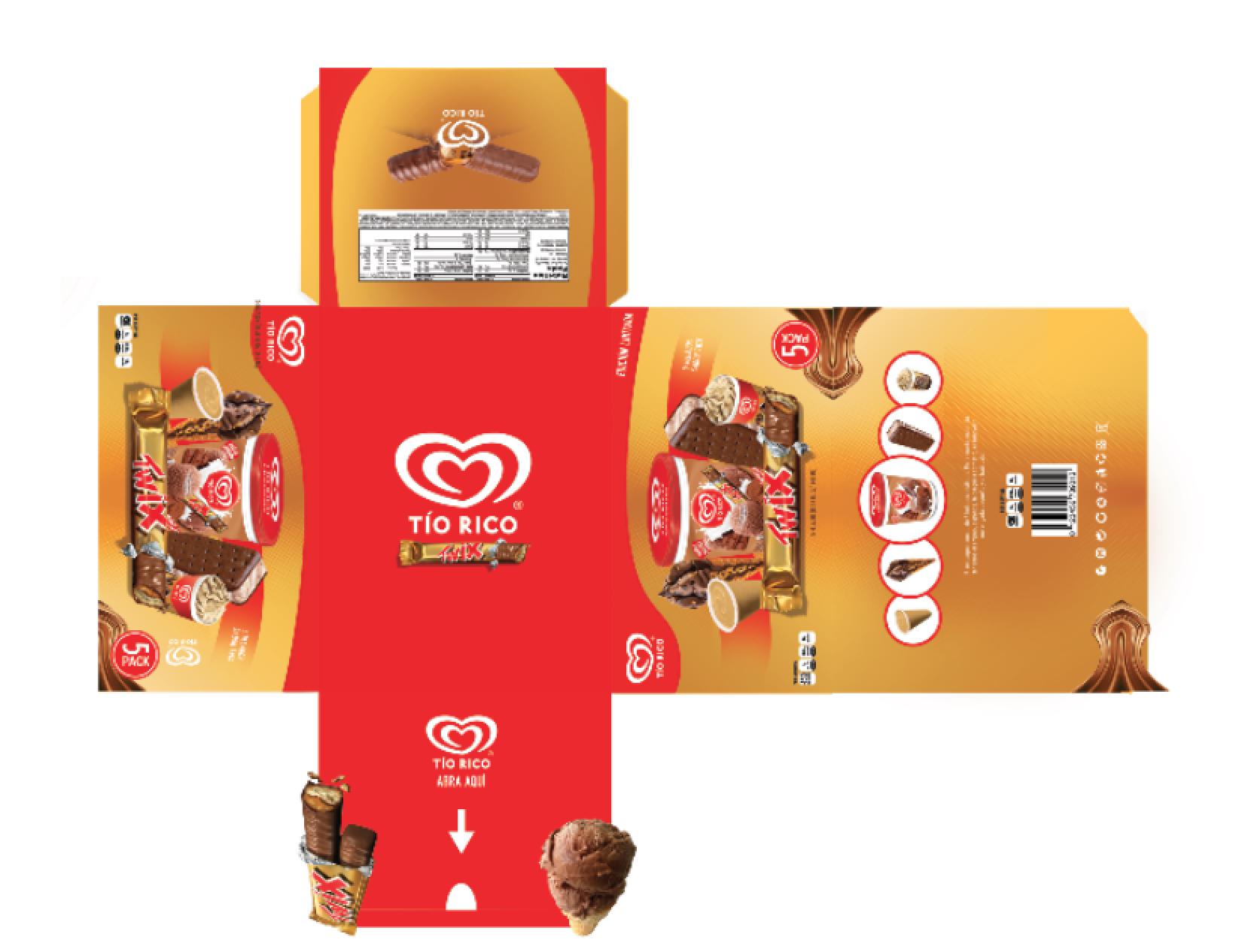 Tio Rico packaging design
