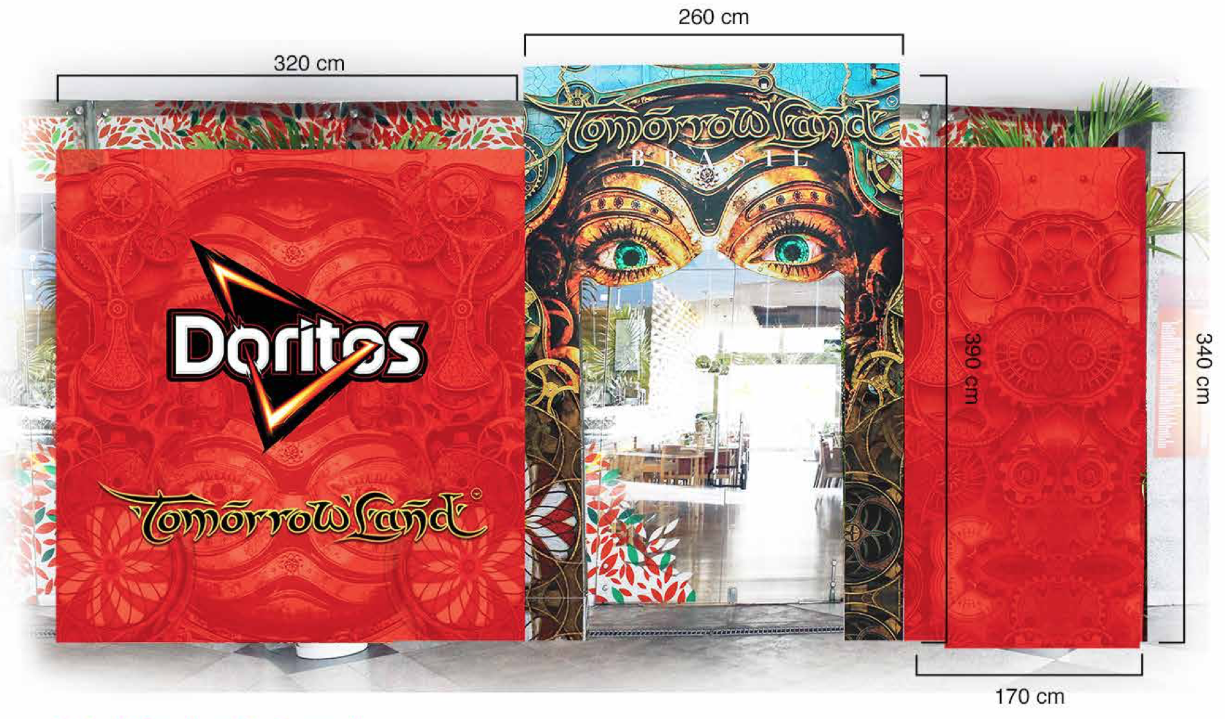 Doritos event artwork design